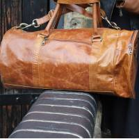 Barrel Bag Tan Leather