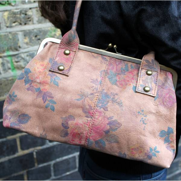 Doris Shoulder Bag Clipframe Summer Floral Darkest