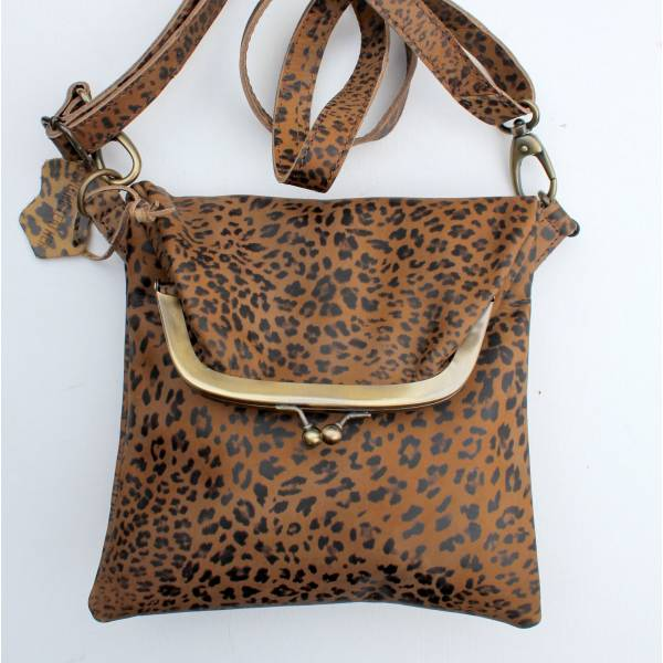 Dublin Mini Clipbag Leopardprint