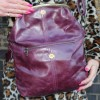 Dublin Medium Clip Bag Purple Leather