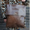 Envelope Messenger Bag Large Brown Twister