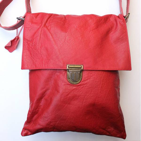 Envelope Red Large Leather Bag
