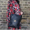Envelope Black Large Leather Bag