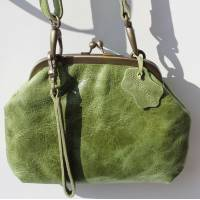 Evanna Clip And Clutch Bag Apple Leather Large