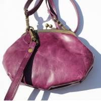 Evanna Clip And Clutch Bag Purple Small