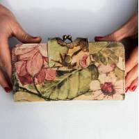 Evanna Large Clip Wallet Italian Art Leather