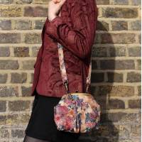 Evanna Large Floral Leather Bag
