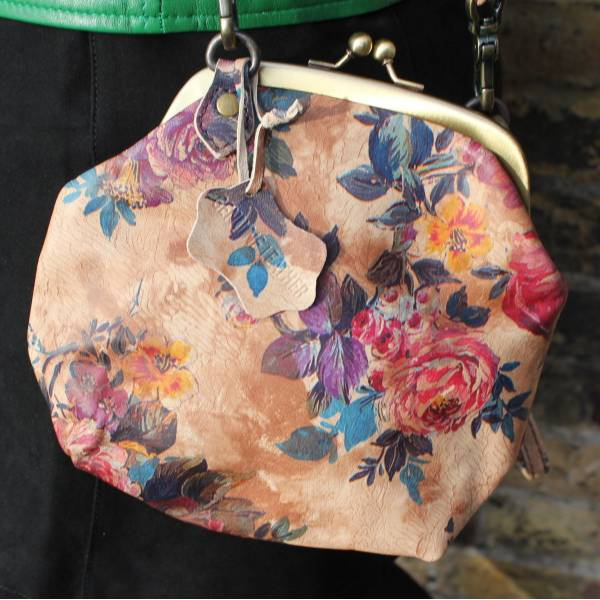 Evanna Medium Floral Leather Bag