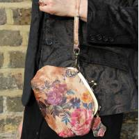Evanna Small Floral Leather Bag