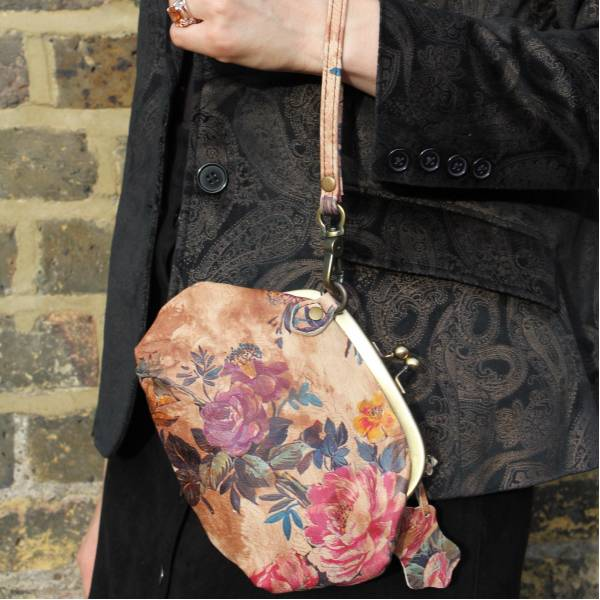 Small Floral Leather Bag
