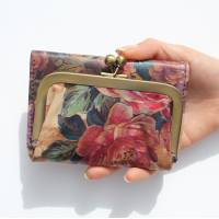 Evanna Clip Wallet Floral 14 Print Leather
