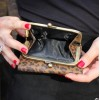 Evanna Clip Wallet Leopard Print Leather