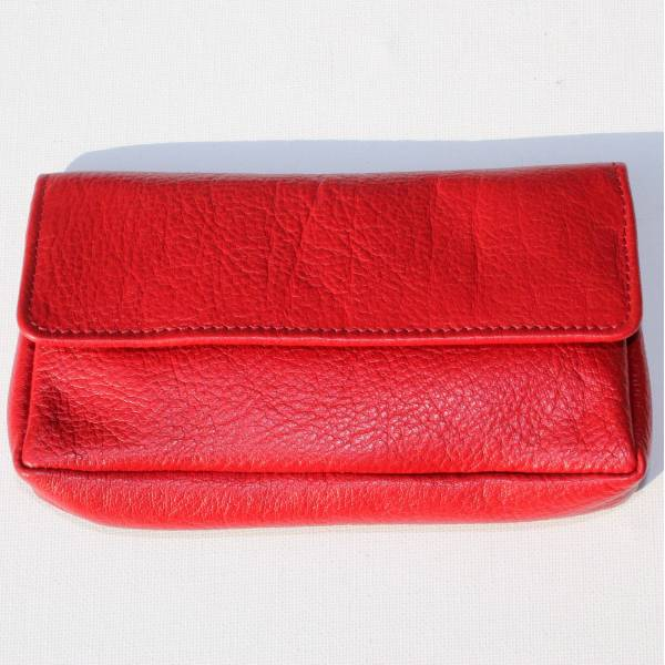 Francesca Pouch Wallet Red Leather