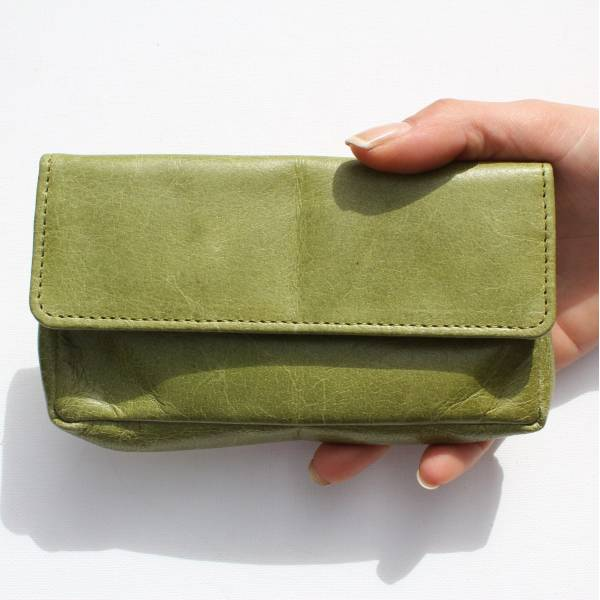 Francesca Pouch  Wallet Apple Green