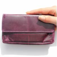 Francesca Pouch Wallet Purple Leather