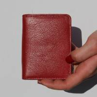 Red and Floral Leather Wallet