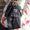Funky Bag Black Leather Mini Satchel