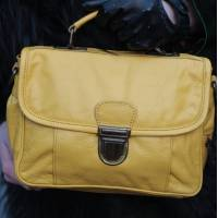 Funky Bag Mini Satchel Yellow Leather