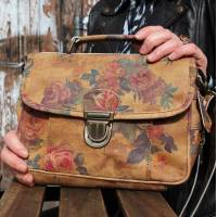 Funky Bag Floral 14 Leather Mini Satchel