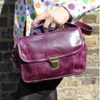 Funky Bag Purple Leather Mini Satchel
