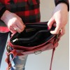 Funky Bag Red Leather Mini Satchel
