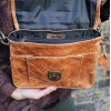 Funky Tan Leather Mini Satchel