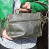 Funky Bag Olive Green Leather Mini Satchel