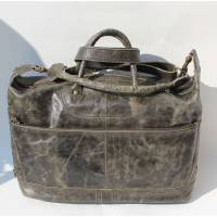 Gertrude Tote Charcoal Leather Bag