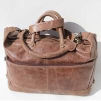 Gertrude Tote Holdall Mocha Brown Leather Bag