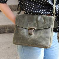 Louisa Cross-Body Charcoal Leather