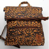 Amelie Backpack Convertible to Messenger Bag Leopard Print Vegan N11