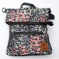 Amelie Backpack Convertible to Messenger Bag Multicolour Leopard Print Vegan