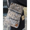 Amelie Backpack Convertible to Messenger Bag Leopard Print Vegan