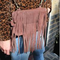 Small Bag Dark Brown  Suede