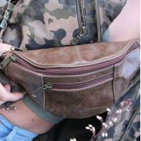 Brown Bumbag Leather
