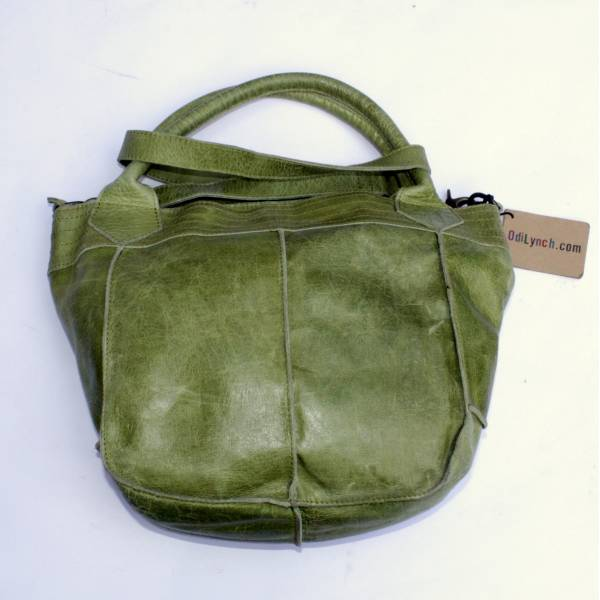 Bach Small Tote Apple Green Leather