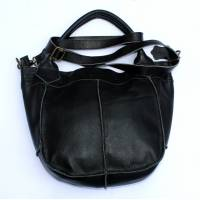 Bach Small Tote Bag Black Leather