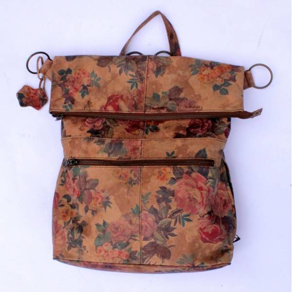 Belgian Backpack Convertible Floral