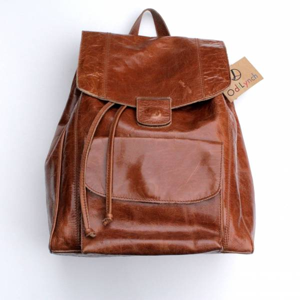 Coolruck Rucksack Tan Scrunchy Leather