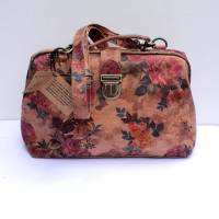 Doctor Bag Medium Floral 14 Light Suede