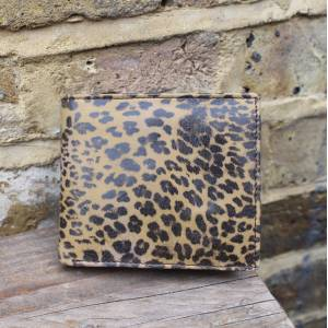 Wallet Leopard Print Leather