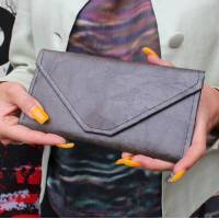 Wallet Clutch Teakleaf Charcoal