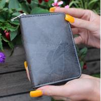 Charcoal Wallet Teakleaf