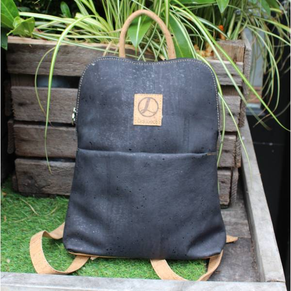 Cork Black Backpack