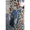 Large Envelope Twister Bag in Black leather