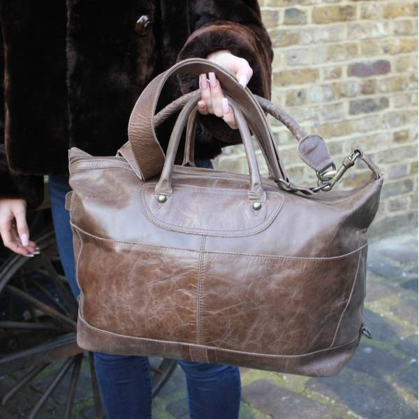 Gertrude Tote Mocha Brown Leather Bag