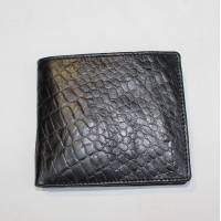 Alberta Animal Print Black Leather Wallet