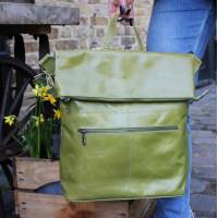 Belgian Zip Convertible Appe Green Leather