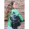 Small Rucksack Navy Leather
