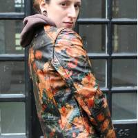 Biker Renaissance Floral Leather Jacket